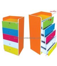 ชั้นหนังสือเด็กไม้ยางพารา แข็งแรง สีสรรสวยงามค่ะ
