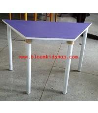 โต๊ะกิจกรรมเด็กโตหลากสี ขนาด 6 ที่นั่ง โครงขาเหล็กหน้าโฟเมก้าสี ทนทานแช็งแรง
