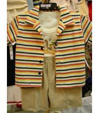 ชุดเสื้อสามชิ้น( 83851)