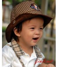 หมวกคาวบอยลายสก๊อต MK158