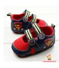 รองเท้า Superman สีน้ำเงิน-แดง ไซส์ 11 cm