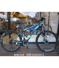 TRINX M136 จักรยานเสือภูเขา สีดำคาดฟ้า