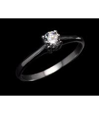 แหวนทองคำขาวเพชรครึ่งกะรัต (R-478)