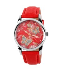 นาฬิกาแฟชั่นผู้หญิง ยี่ห้อ SKMEI รุ่น 9079 สีแดง