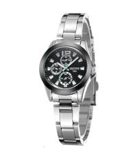 นาฬิกาข้อมือ SKONE รุ่น 7063L-Black (หน้าปัดดำ)