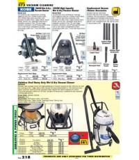 เครื่องมือช่างหมวด VACUUM CLEANERS หน้า 218