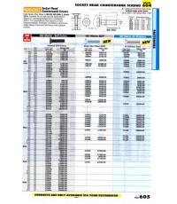 เครื่องมือช่างหมวด SOCKET HEAD COUNTERSUNK SCREWS หน้า 605
