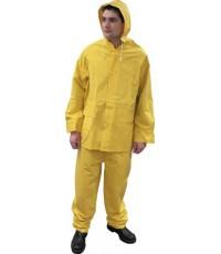 เสื้อกันฝน สีเหลือง Size L