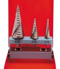 4-30mm SHEET METAL STEP DRILLS HSS (SET-3)