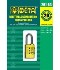 กุญแจทองเหลืองแท้รุ่นตั้งรหัส META 007580