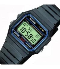นาฬิกาข้อมือชาย,หญิง รุ่น F-91W-1DG - Black