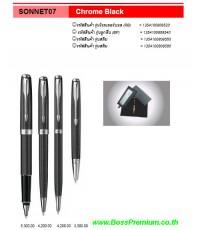 ปากกา  parker pen sonnet07 chrome Black Pen premium 08-5100-0099 BossPremium.co.th  ปากกา  parker pe