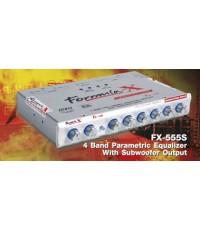 FORMULA X FX-555S ปรี 4 แบรนด์ parametric equalizer with subwoofer output