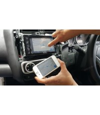 HONDA JAZZ 2014-2015 เปลี่ยน front PIONEER AVH-275BT เพิ่มเติมระบบเชื่อมต่อ wifi ใช้งานกับsmart devi
