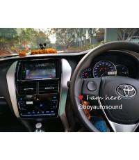 Toyota Yaris Ativ ติดเครื่องเล่น 2 din พร้อมหน้ากากชุดแอร์ดิจิตอล สุดหรูหรา ยิ่งกว่าตัว top
