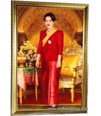 กรอบรูปขนาดใหญ่ พร้อมพระบรมฉายาลักษณ์ พระราชินี ขนาดรูป70x120ซม.