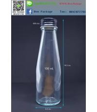 ขวด 100 ml เครื่องดื่ม(WK) ฝาโลหะดำ
