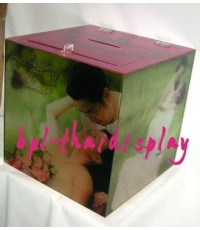 กล่องรับซองวันแต่งงานพร้อมติดภาพคู่บ่าว-สาว
