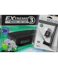 RECEIVER THAISAT EXTREME 3 รุ่น RV-103 + Mini USB 2.0 Wireless Wifi Adapter 802.11N 600Mbps