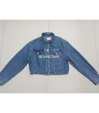 Jacket Jeans VERSACE ไหล่กว้าง16นิ้วไหล่ถึงชายเสื้อ16นิ้วแขนยาว23นิ้วช่วงเอวกว้าง16นิ้ว