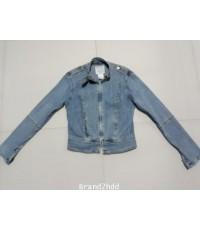 Jacket Jeans  XOXOไหล่กว้าง14นิ้วไหล่ถึงชายเสื้อ17นิ้วแขนยาว23นิ้วช่วงเอวกว้าง14นิ้ว