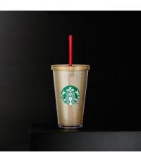 แก้วสตาร์บัค Starbucks พร้อมหลอด Gold Sparkle Cold Cup, 16 fl oz nbsp; nbsp; nbsp;   4.5 (21 reviews