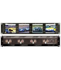 LCD มอนิเตอร์ Rack Mount 4 Gang 4 นิ้ว, Marshall Electronics V-R44P Quad 4\quot; LCD Monitor