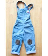 เอี๊ยม กางเกงยีนส์ ขายาว The Artist ✿ เสื้อผ้าเด็ก สไตล์วินเทจ