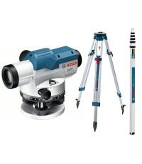 BOSCH กล้องวัดระดับเลเซอร์ รุ่น GOL 32 D (FULL SET) พร้อมขาตั้ง และ ไม้สต๊าฟ