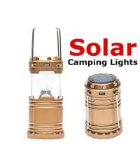 SIAMHW ตะเกียงโคมไฟ และ ไฟฉาย 6+1 LED พลังแสงอาทิตย์/ชาร์จไฟได้ 5W LED