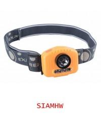 SIAMHW ไฟฉายส่องไกล 100เมตร 150ลูเมนส์ (แบบคาดหัว) มีไฟสีแดงเพื่อใช้ในการตัดหมอก พร้อม IR Sensor