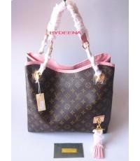 Louis Vuitton Paris Souple Whisper Bag ด้านในหนังชมพู