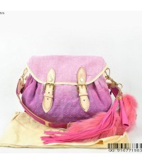 Louis Vuitton Monogram Denim bag with fox tail