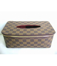 Louis Vuitton Damier Ebene Tissue Box