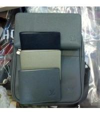 Louis Vuitton Taiga Leather Dimitri Bag M32462 สี เทา