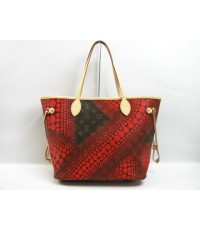 Louis Vuitton Yayoi Kusama Monogram  Neverfull MM M40686 แดง