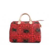 Louis Vuitton Yayoi Kusama Speedy 30 M40692 สีแดง หนังแท้