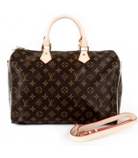 Louis Vuitton Monogram Speedy 35 Bandouliere