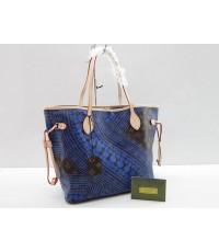 Louis Vuitton Yayoi Kusama Monogram  Neverfull MM M40686 น้ำเงิน