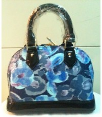 Louis Vuitton Monogram Alma Vernis Floral Ikat Bag หนังลาย