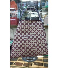 Coach Madison Phoebe Shoulder Bag In Op Art Sateen Fabric