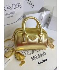 Prada Mini Speedy Saffiano Lux Handbag หมอนจิ๋ว