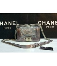 Chanel Le Boy Flap Shoulder Bag  หนัง8  นิ้ว