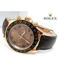 นาฬิกา Rolex Cosmograph Daytona Everose Gold Bezel Ceramic Black Leather Dial Chocoloate