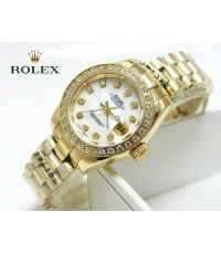 นาฬิกา Rolex Lady-Datejust Gold President 26 mm