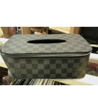 Louis Vuitton Damier Graphite  Tissue Box