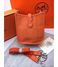 Hermes Mini Evelyn shoulder bag ส้ม