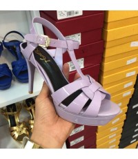 Yves Saint Laurent  Tribute Sandal หนังเงา