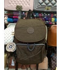 กระเป๋าเป้ KIPLING 12 นิ้ว สีพื้นฝาปิด กระเป๋าข้าง