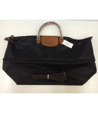 Longchamp travel bag มีซิบแบบขยายได้ มีสายยาว
